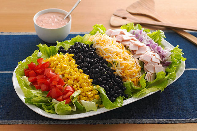 Mexican salad recipe kraft recipes for Salas ideas