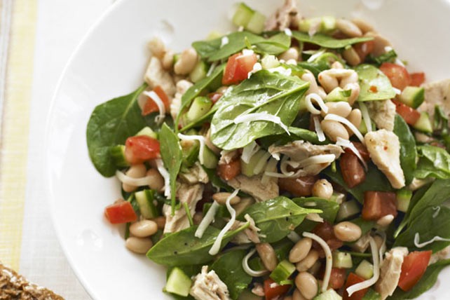 White Bean, Tuna and Spinach Salad Image 1