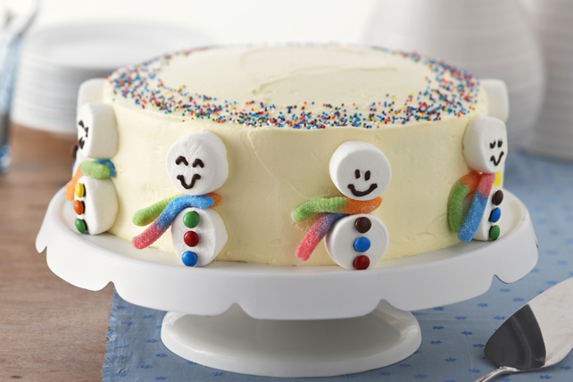 Gâteau Bonhommes de neige Image 1