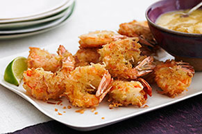 Coconut-Curried Shrimp with Chutney Mayo