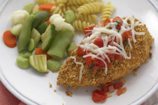 Chicken Parmigiana with Fresh Tomato Sauce Image 1