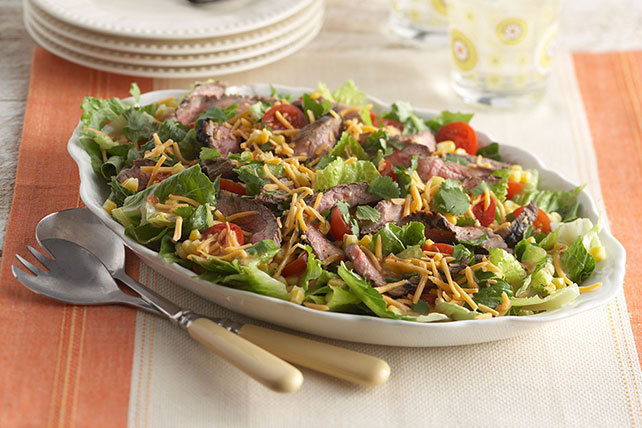Steak Salad with Corn & Tomatoes