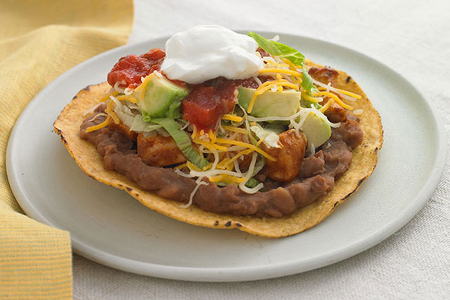 Salsa-Chicken Tostadas - Kraft Recipes