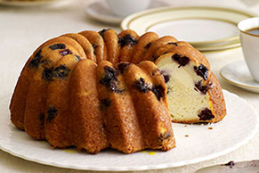 Lemon-Blueberry Swirl Cake