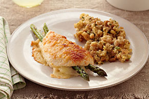 Parmesan-Crusted Stuffed Chicken