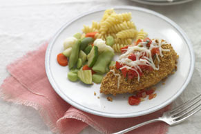 Chicken Parmigiana with Fresh Tomato Sauce