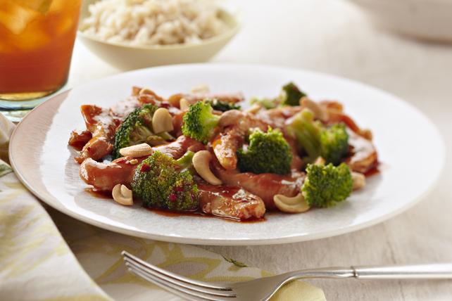 Poulet, brocoli et noix de cajou à l'asiatique Image 1