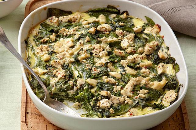 Mediterranean Baked Spinach Image 1