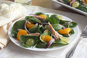 Mandarin Spinach Salad with Chicken