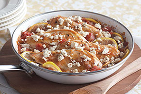 Chicken with Tomatoes & Feta