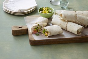 Salsa Chicken Wrap with Pineapple Pico de Gallo