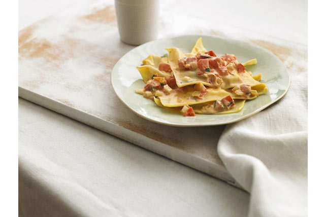 Italiano Ravioli with Tomato-Cream Sauce