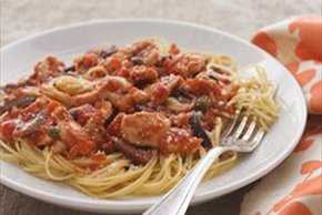 Angel Hair Puttanesca with Chicken