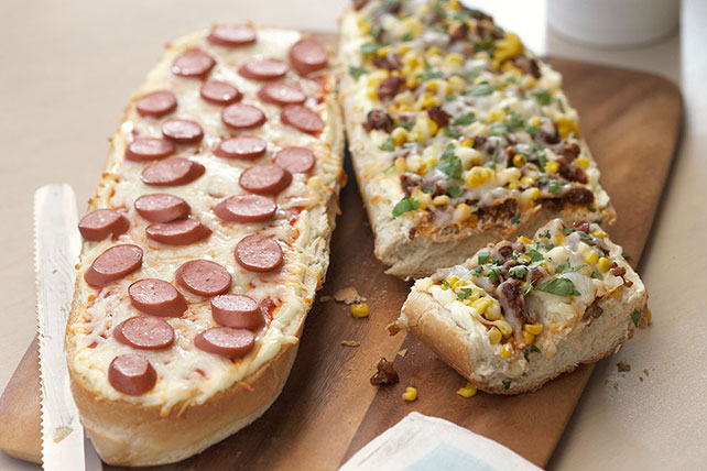 Pan de pizza a los dos quesos Image 1