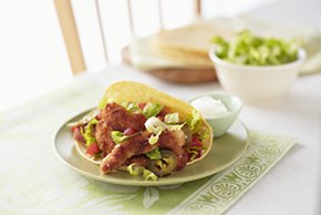 Chicken Milanese Strip Tacos