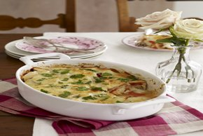 Horneado de pescado y verduras