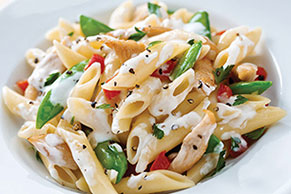 Creamy Chicken Penne with Veggies
