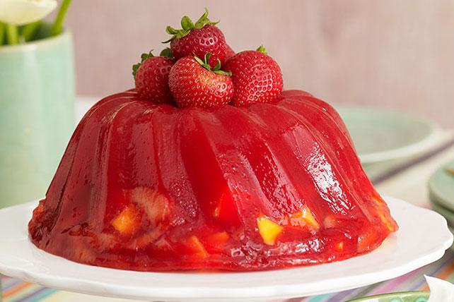 Strawberry-Mango Gelatin Dessert Image 1