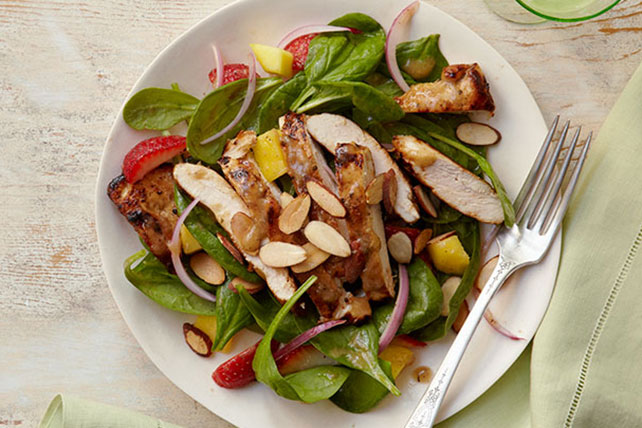Mango-Balsamic Spinach Salad with Chicken Image 1