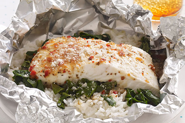 Paquetitos de pescado a la florentina para dos Image 1
