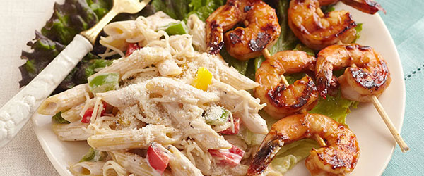 BBQ Shrimp-Pasta Salad