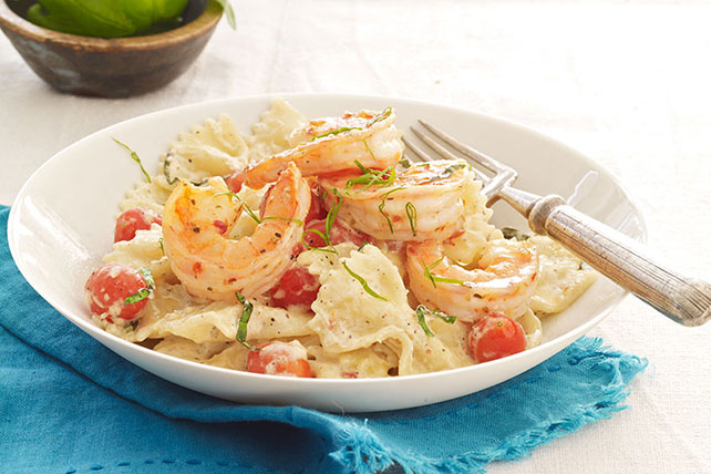 Creamy Tomato-Basil Pasta with Shrimp Image 1