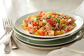 Grilled Chicken & Summer Vegetable Skillet