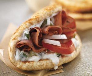 Roast Beef Gyro Sandwich