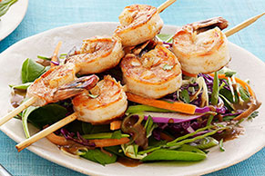 Asian Sesame Salad with Blackened Shrimp