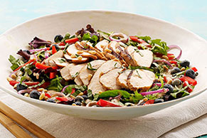Blueberry-Balsamic Grilled Chicken Salad