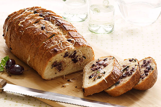 Rustic Cheese & Olive Bread Image 1