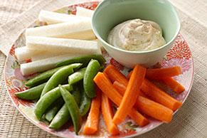 Verduras con mayonesa picante