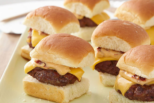 Mini Cheeseburgers with Chipotle Mayo