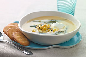 Roasted Corn & Poblano Soup