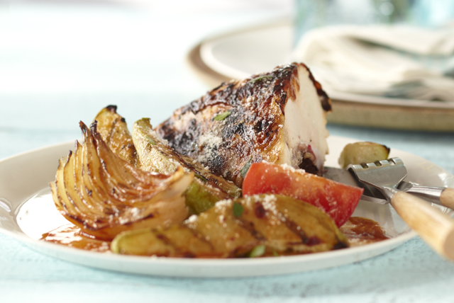 Chipotle Chicken with Chayote, Onion & Tomato Toss Image 1