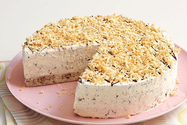 Pastel helado con chispas de chocolate y coco Image 1