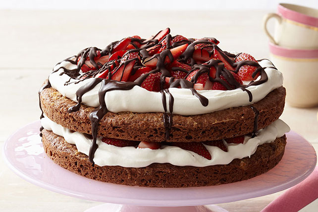 Chocolate-Strawberry Shortcake Image 1