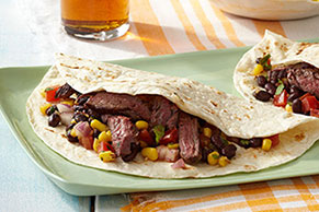Grilled Skirt Steak Fajitas