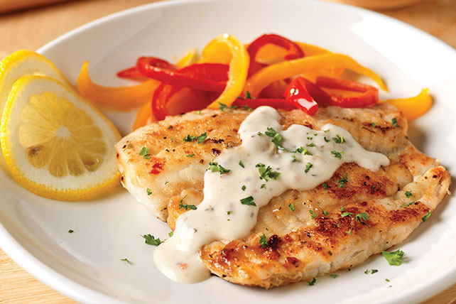 pan fried fish with creamy lemon sauce for two kraft recipes