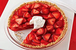 Pay de fresa relleno de gelatina