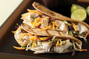 Grilled Fish Tacos with Creamy Coleslaw for Two
