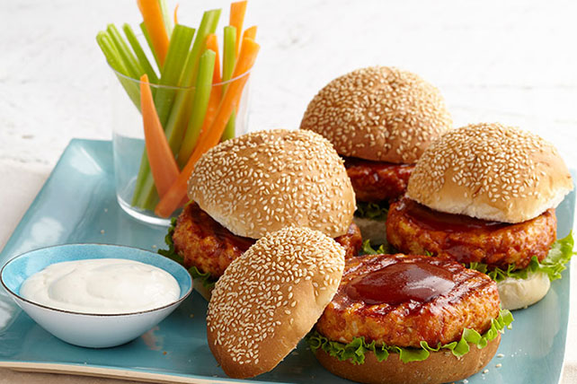 BBQ-Buffalo Chicken Burgers Image 1