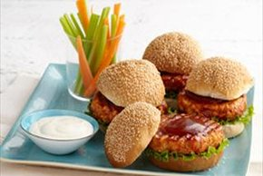 BBQ-Buffalo Chicken Burgers