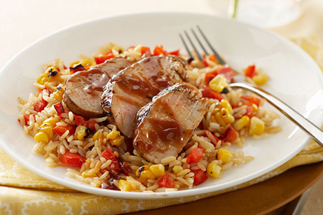 BBQ Pork Tenderloin & Vegetable Rice Image 1