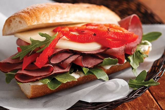 Roasted Pepper Antipasto Sandwich