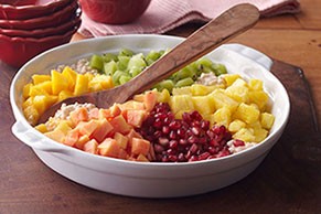 Fruit-Topped Sugar & Spice Cottage Cheese