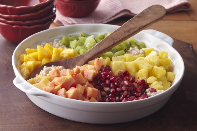 Queso cottage dulce con frutas y canela Image 1