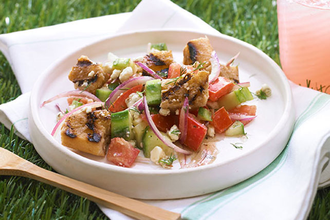 Grilled Summer Panzanella Salad Recipe — Dishmaps