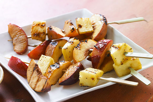 Grilled Fruit Kabobs with Creamy Honey Sauce