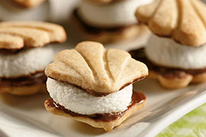 Mini Shortbread S'mores